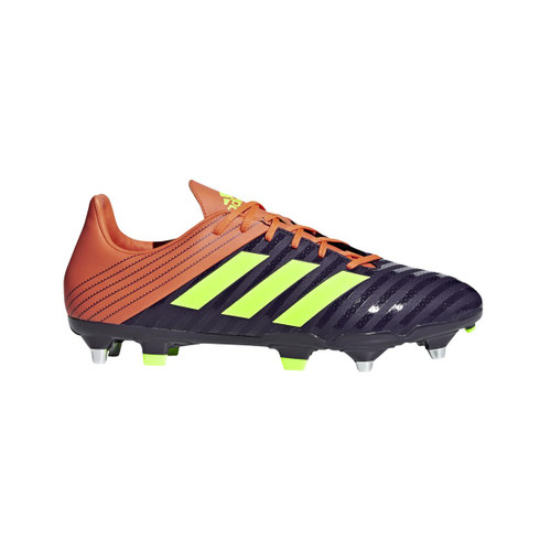 Adidas Malice SG Rugby Boot - Legend Purple/Yellow/True Orange   Rugby City