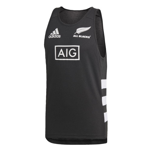 Adidas New Zealand All Blacks Singlet - Black/White | Rugby City