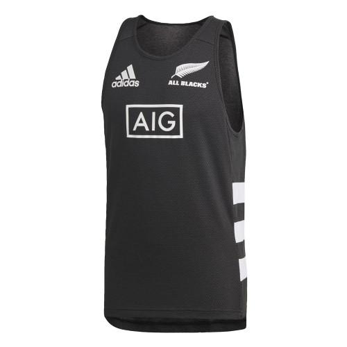 Adidas New Zealand All Blacks Singlet - Black/White | Rugby City