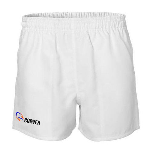 Convex Rugby Shorts - White | Rugby City