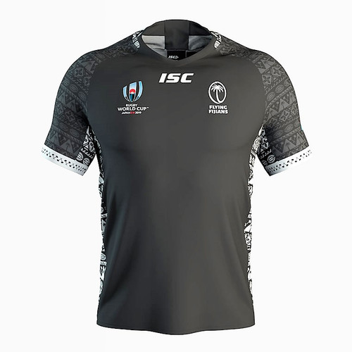 ISC Fiji World Cup 2019 Away Rugby Jersey - Black | Rugby City