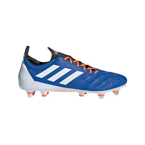 Adidas Malice SG Rugby Boots - Blue/ White/ Orange | Rugby City