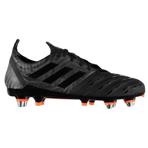 Adidas Malice SG All Blacks Rugby Boots - Black/Orange