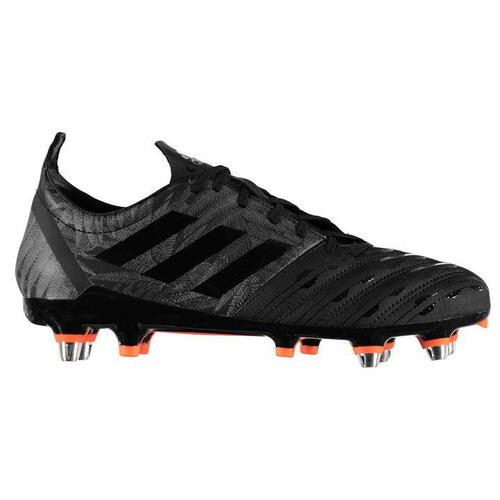 Adidas Malice SG All Blacks Rugby Boots - Black/Orange
