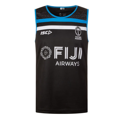 ISC Fiji 2019/20 Players Rugby Training Singlet - Black | Rugby City