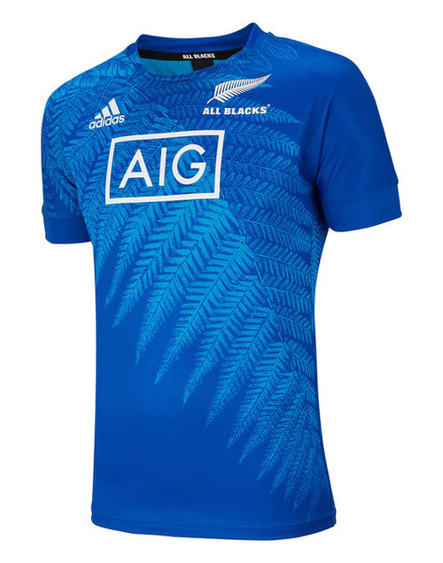 Adidas New Zealand All Blacks Rugby World Cup Japan Training Jersey - Blue | Rugby City