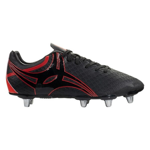 Gilbert Kaizen 3.0 Power Soft Ground Rugby Boots - Black/Red
