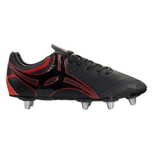 Gilbert Kaizen 3.0 Power Soft Ground Rugby Boots - Black/Red