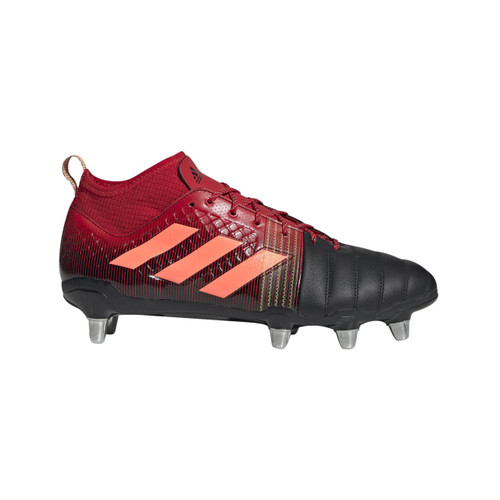 Adidas Kakari X-Kevlar Soft Ground Rugby Boots-Black/Red