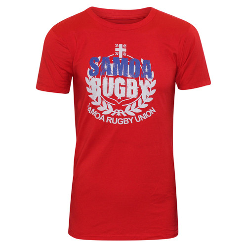 Samoa Union Premier Supporter T-Shirt (Red) | Rugby City