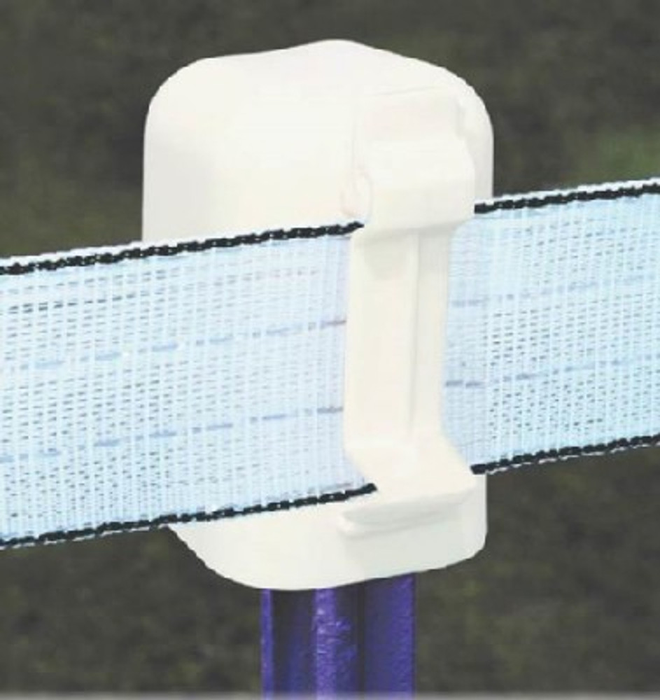 """Electric Fence, T-Post Cap & Insulator, For Up To 2"""" Poly Wire Tape"""