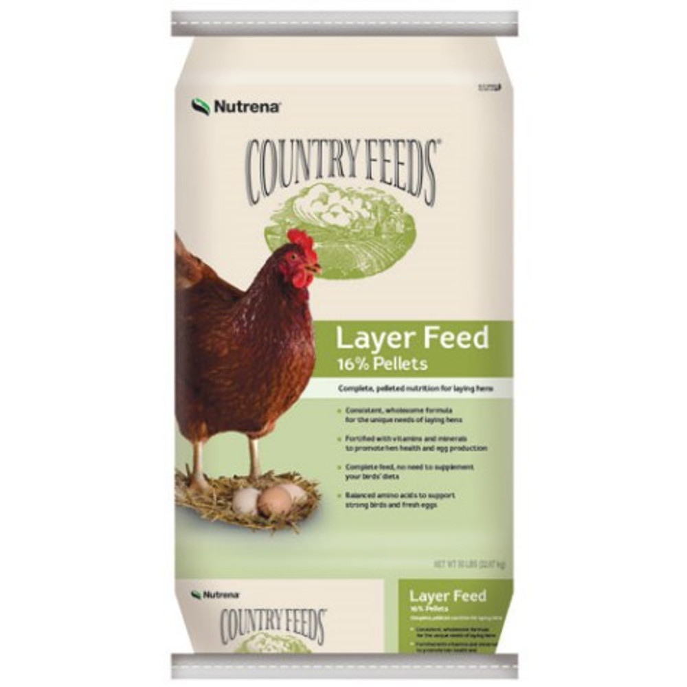 Country Feeds, Layer, Pellets, 16%, 50 Lb