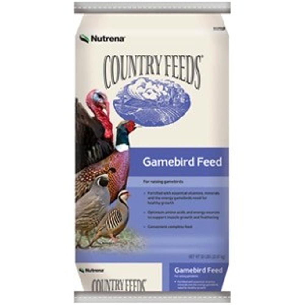 Country Feeds, Gamebird, Crumble, 20%, 50 Lb