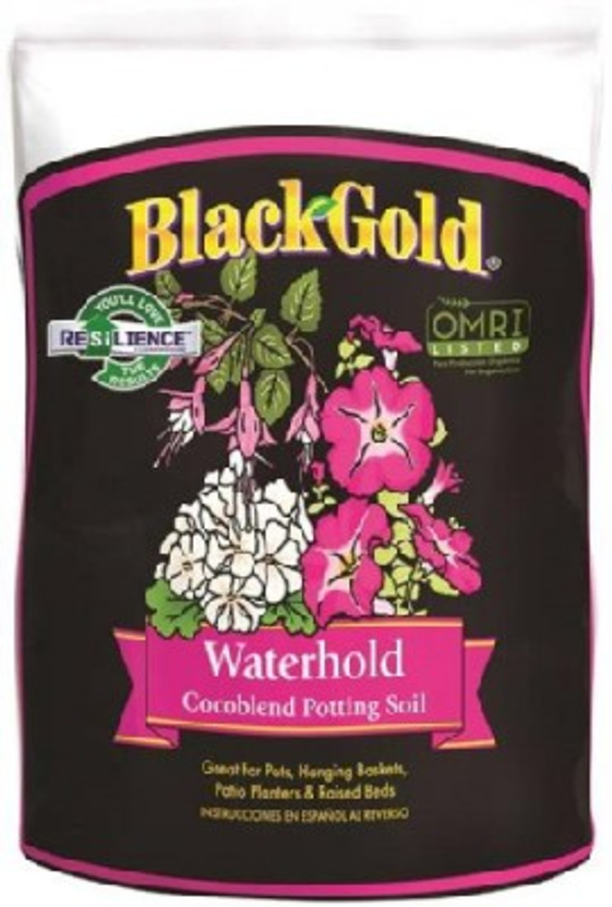 Black Gold, Waterhold Cocoblend Potting Soil  8 Qt