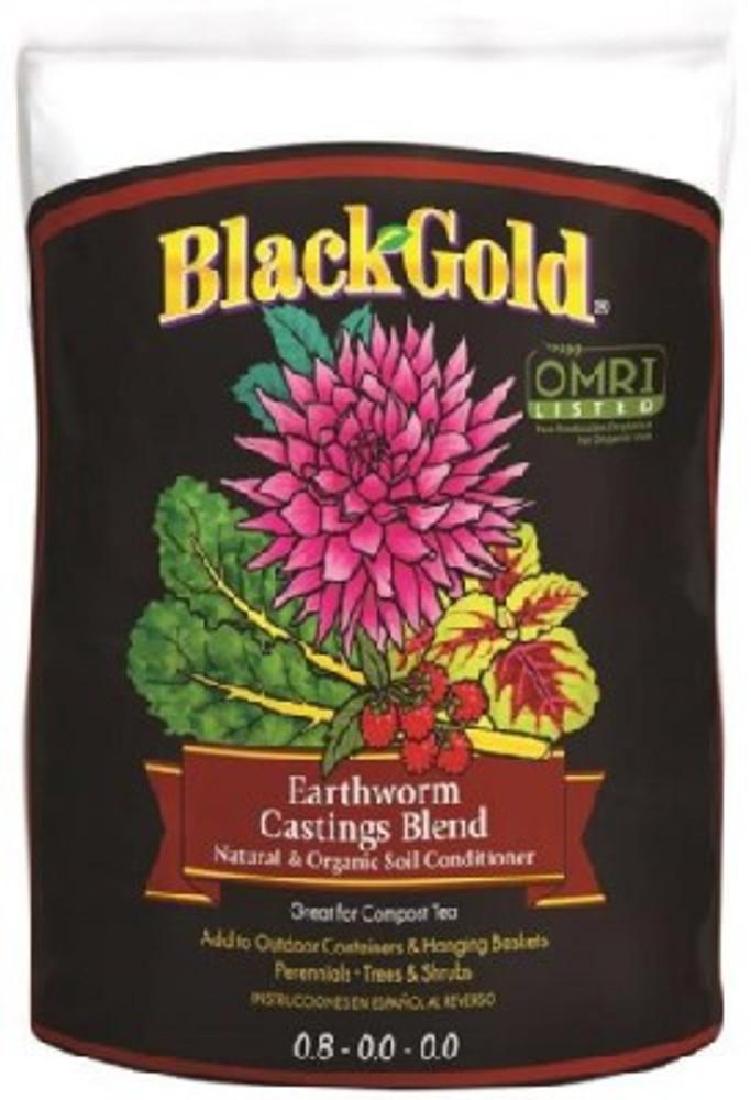 Black Gold, Organic Earthworm Castings 16 Qt, OMRI Certified