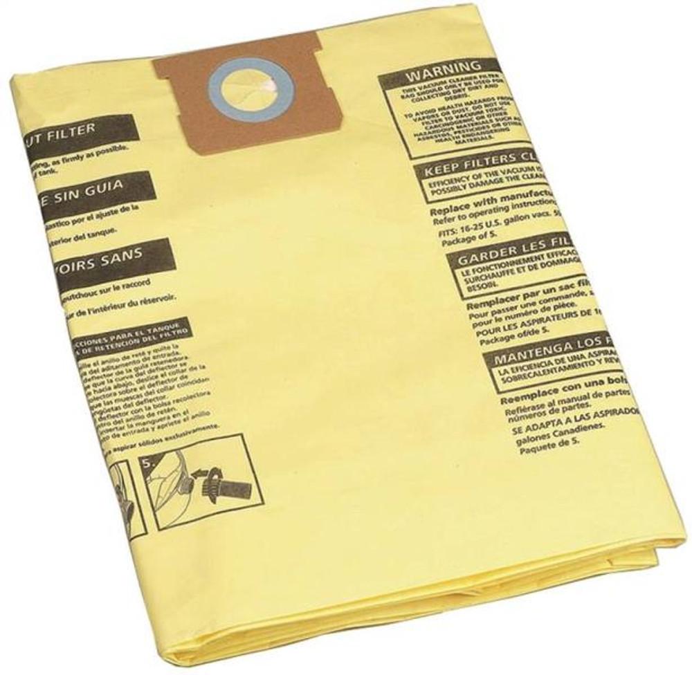 Shop Vac, Disposable Drywall Filter Bag. Fits 15-20 Gal Vacs.  2 Pack