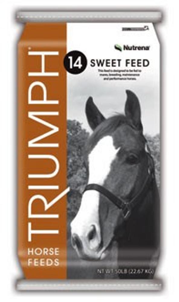 Triumph 14% Textured Sweet Horse Feed, 50 Lb Bag