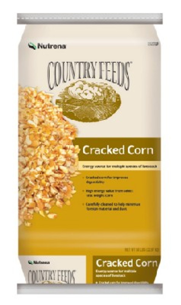 Country Feeds, Cracked Corn, 50 Lb