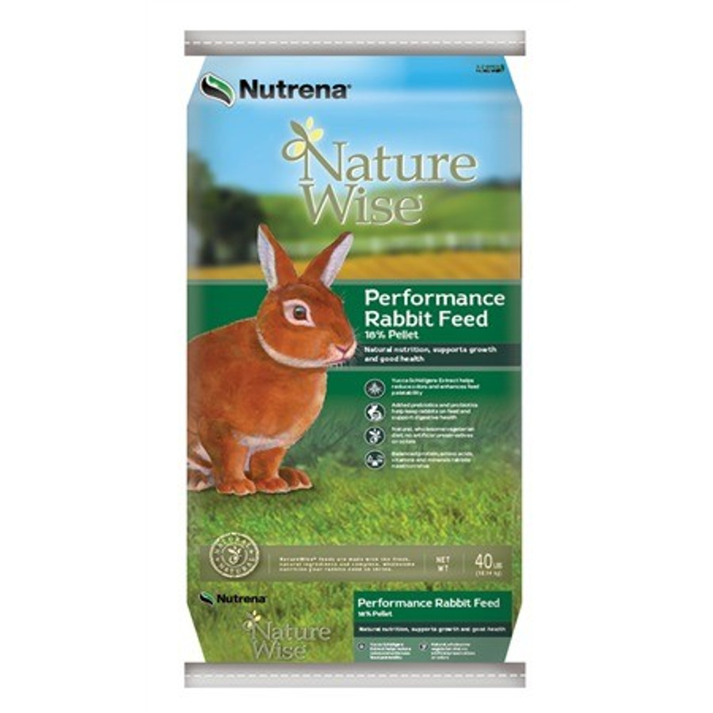 Nature Wise, Rabbit Feed, Pellets, 18%, 40 Lb