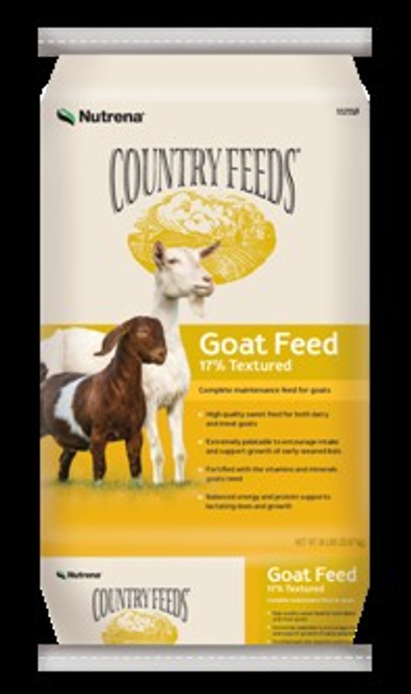 Country Feeds, Goat Feed, Textured, 17%, 50 Lb