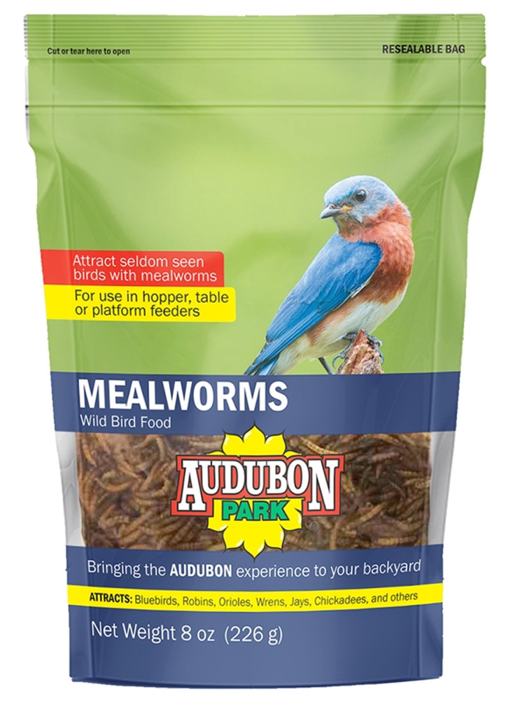 Dried Mealworms,  8 Oz, Bag