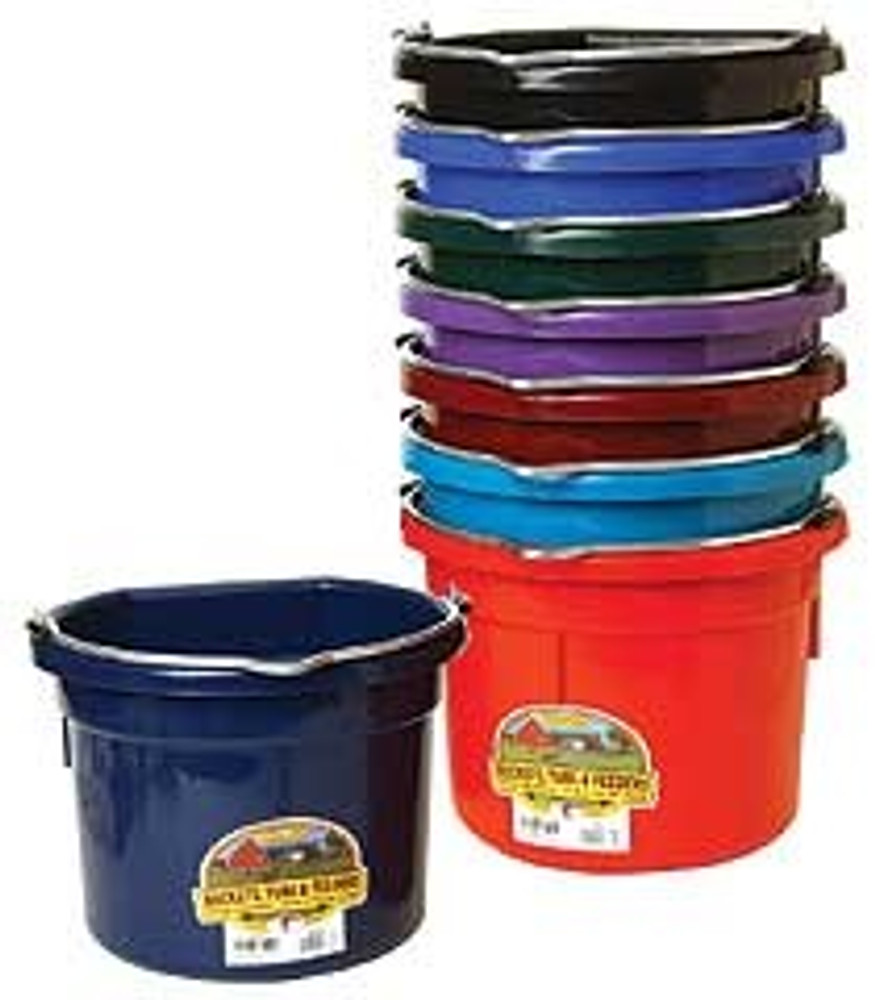Flat Back Bucket, 8 Quart, Blue