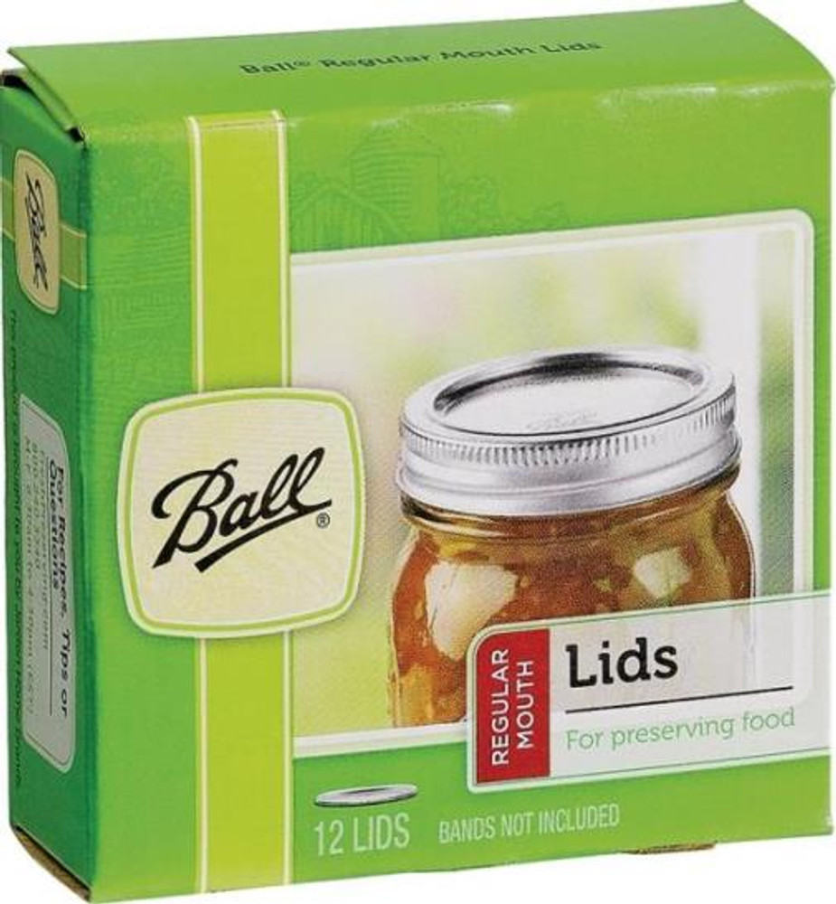 Ball, Dome Canning Lid, Regular Mouth, 12 Pack