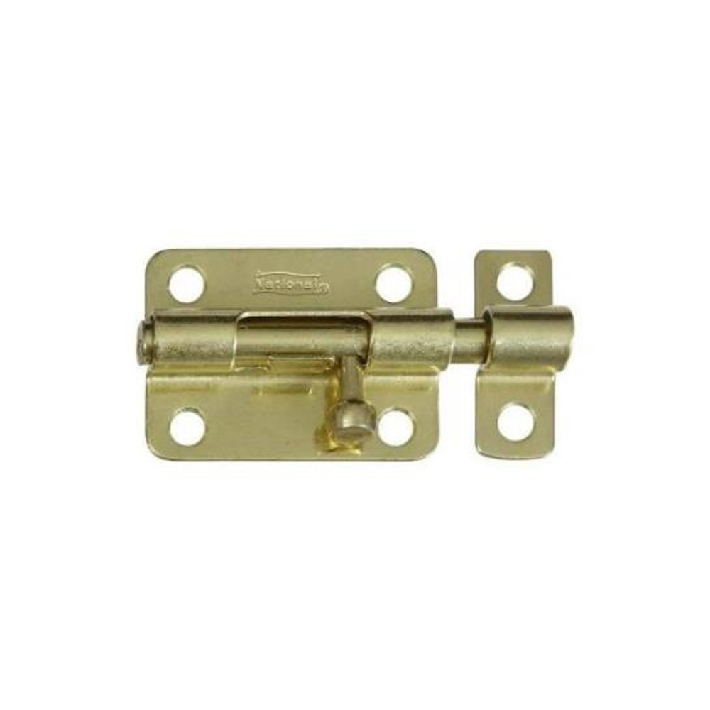 "Barrel Bolt, 3"", Satin Brass Plated Steel"