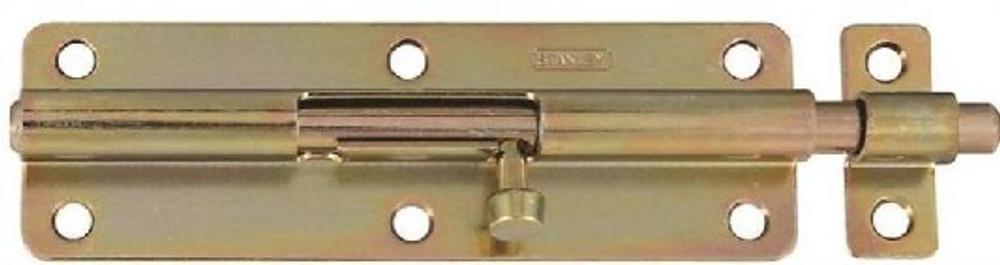 """Barrel Bolt 6"""" Brass Plated"""