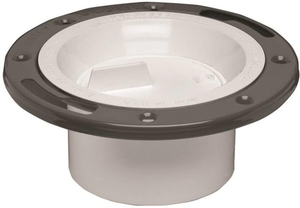 """Closet Flange, 3"""" - 4"""", PVC With Steel Flange, With Test Cap"""
