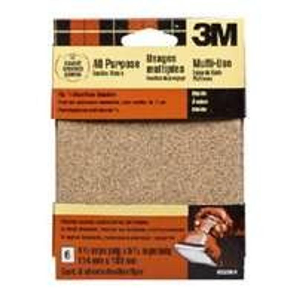 3M, Palm Sander, 1/4 Sheet,  60 Grit, 6 Pack