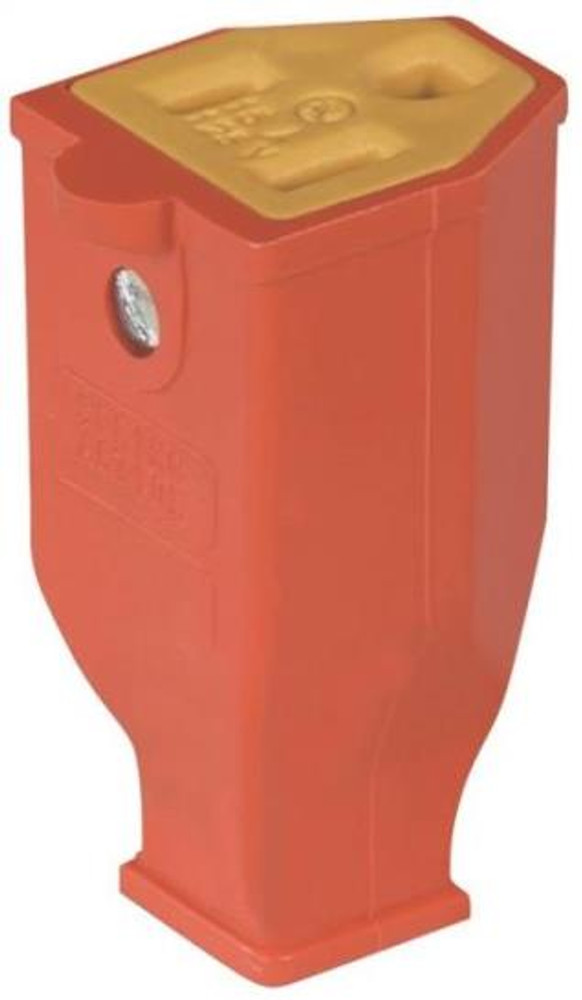 Electrical AC Replacement Connector, Grounded, Orange