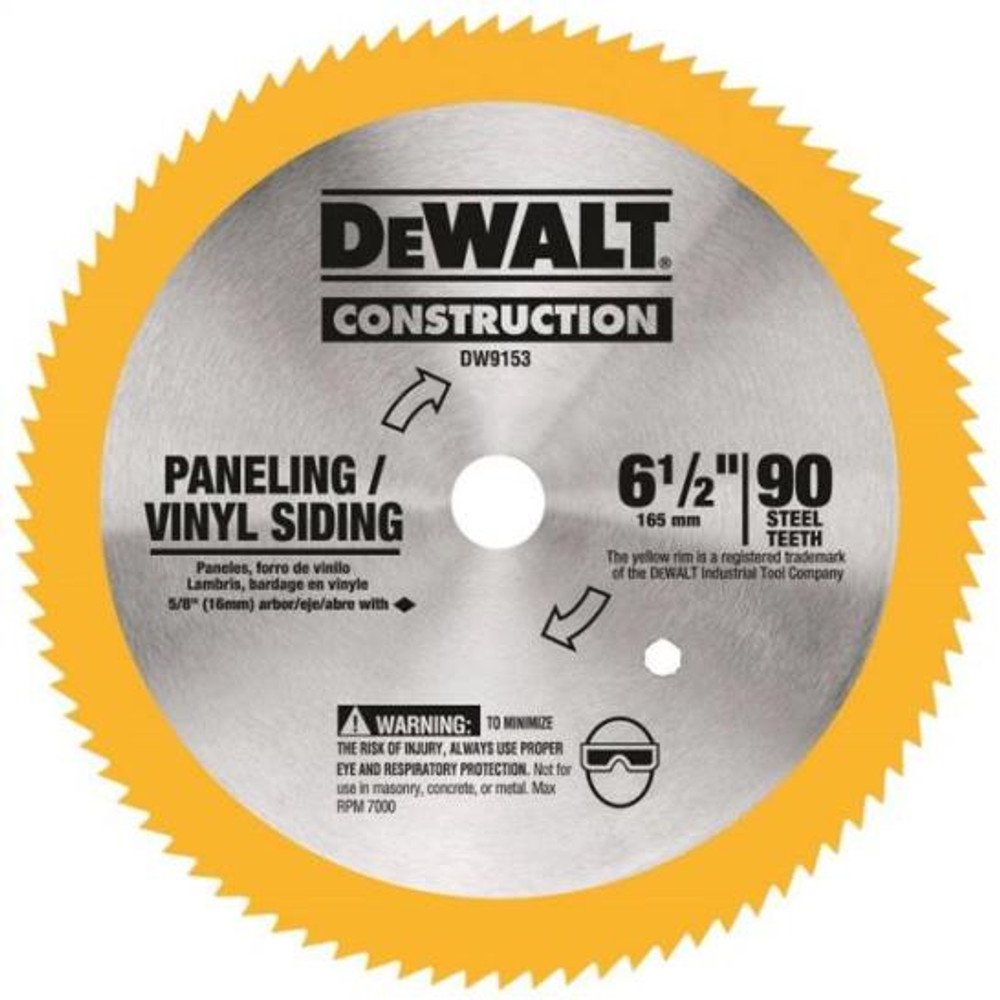 "DeWalt, Circular Saw Blade, 6-1/2"", 90 Teeth"