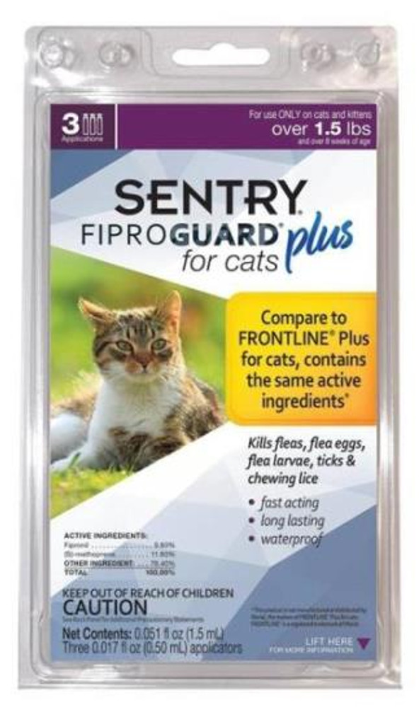 Sentry, Flea & Tick, Squeeze-On, Cats Over 1.5 Lbs