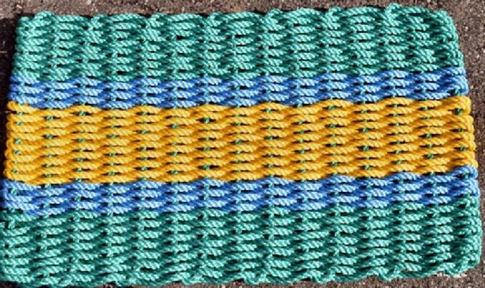 "Door Mat, 30"" x 18"", Fisherman's Rope Mat"