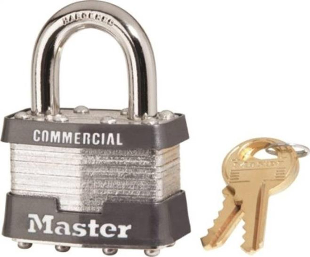 Master Lock, 1 KA # 2359, Pad Lock, Keyed Alike, With 2 Keys