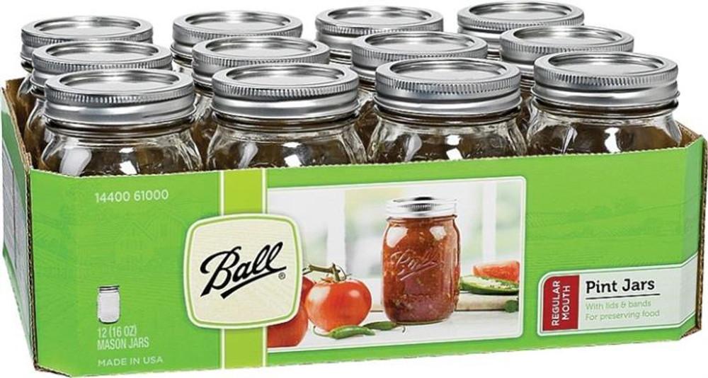 Ball, Canning Jar, Decorative, Pint, 12 Pack