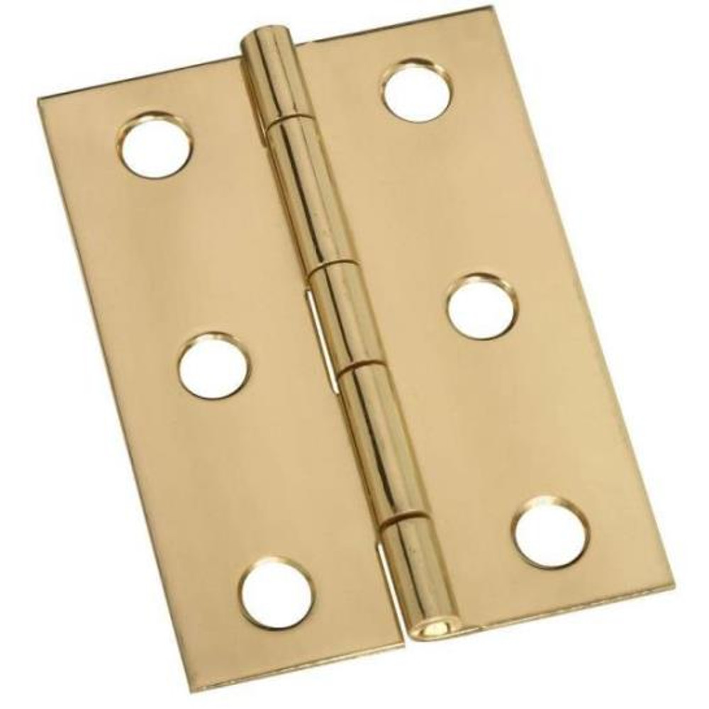 """Butt Hinge, Solid Brass, 2-1/2"""" x 1-3/4"""", 2 Pack, With Screws"""