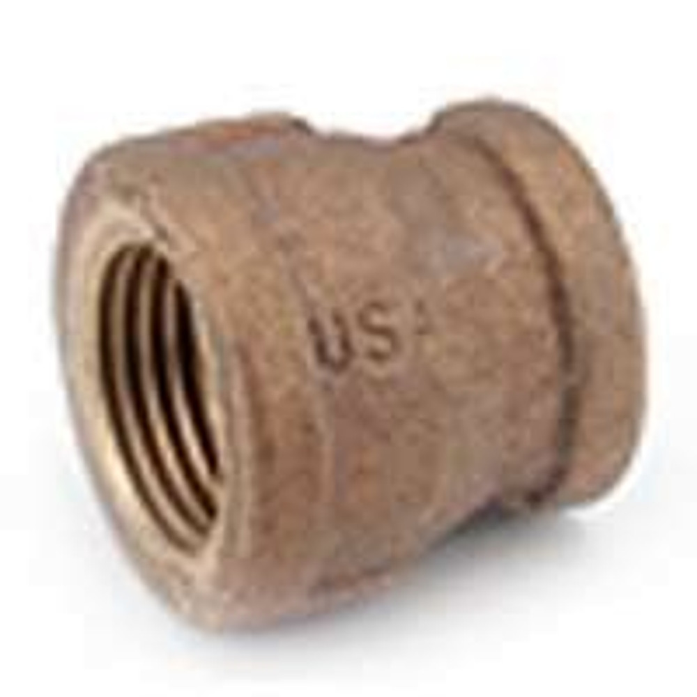 """Brass Pipe Fittings, 1/2"""" x 1/4"""", Coupling"""