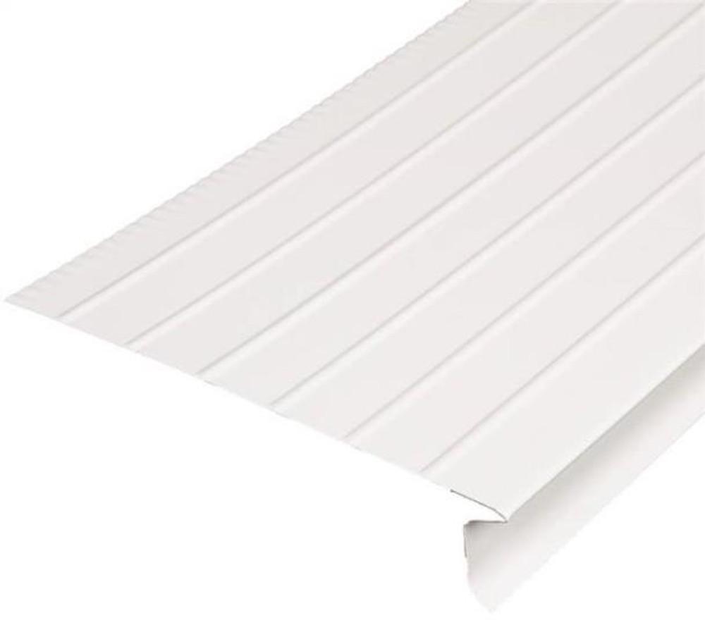 "Drip Edge, Aluminum, 6"" x 1"" x 10', White"