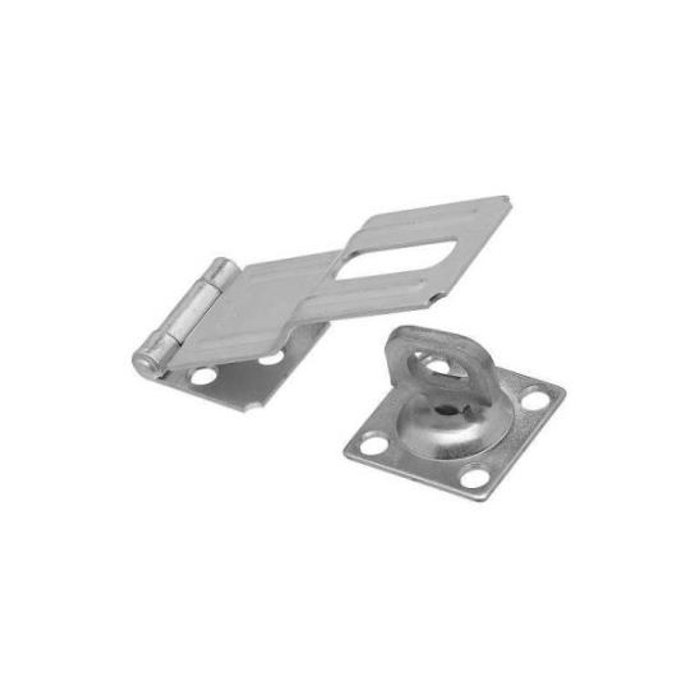 """Hasp, 4-1/2"""", With Swivel, Steel, Zinc Plated"""