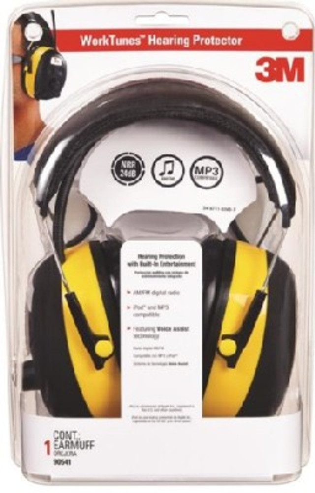 Earmuff, With AM/FM Stereo Radio, 22 dB Protection