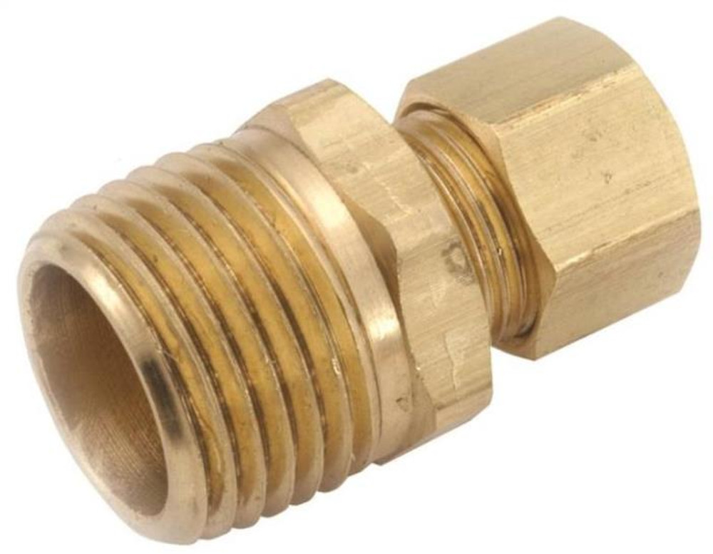 "Compression Fittings, 1/2"", Adapter x 3/8"" MPT, Brass"