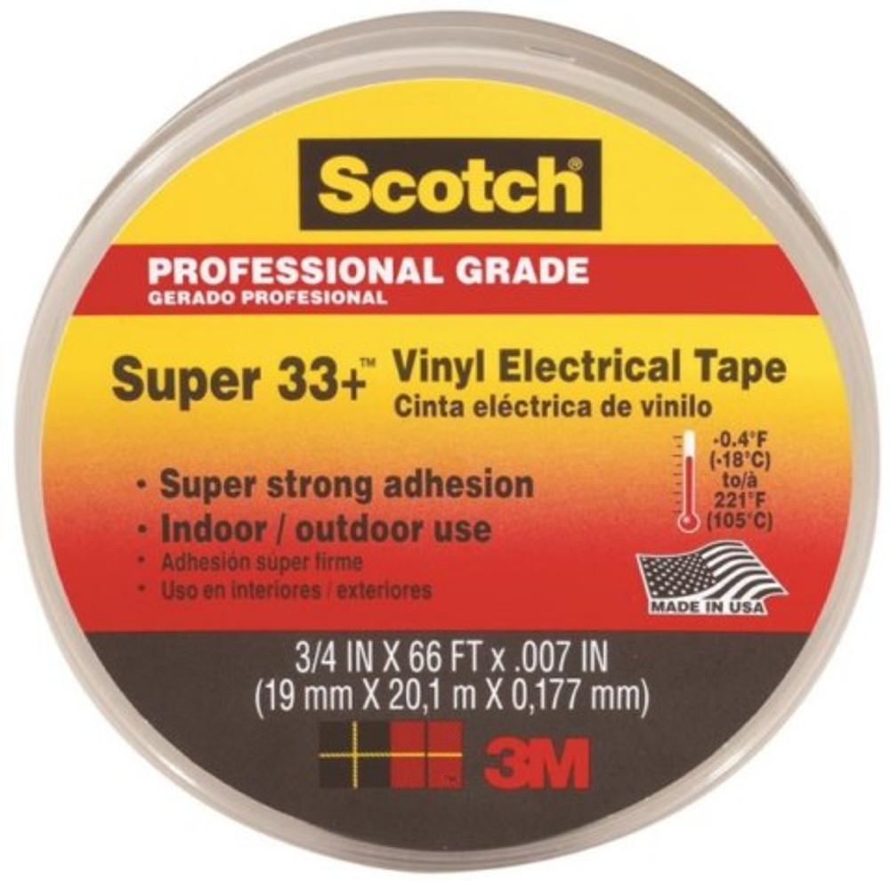 "3M, Electrical Tape, 3/4"" x 66', Black"