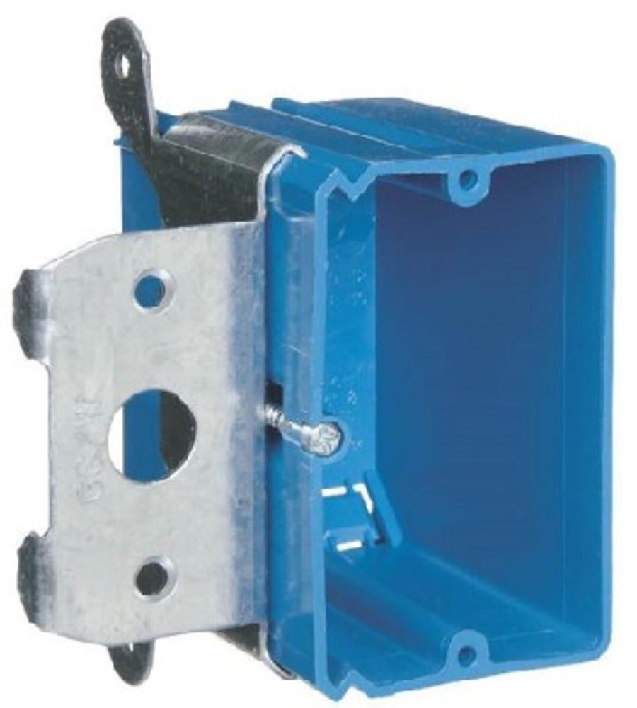 Switch Box, PVC, 1 Gang,  Adjustable Depth