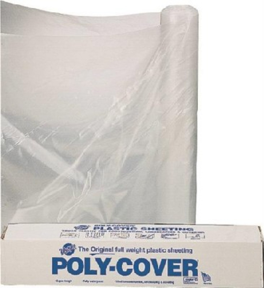 Plastic Sheeting, 6 Mil, 15' x 25', Clear