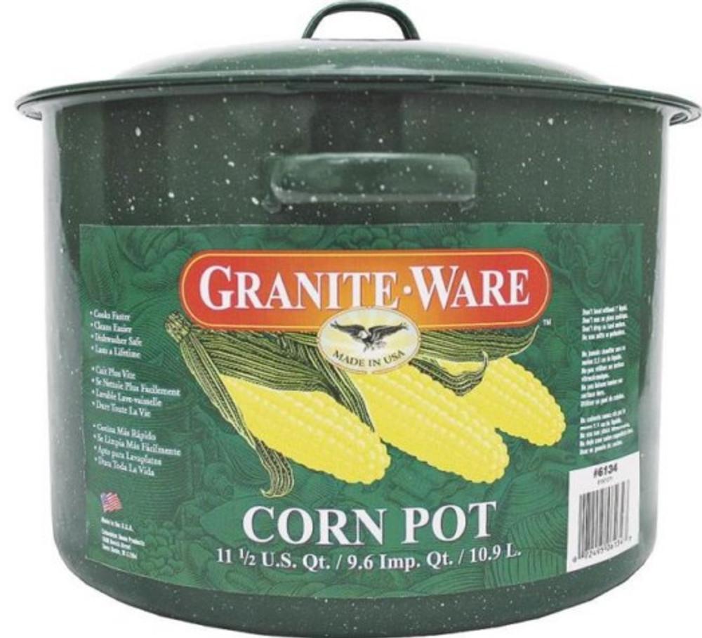 Graniteware, Corn Pot  11.5 Quart