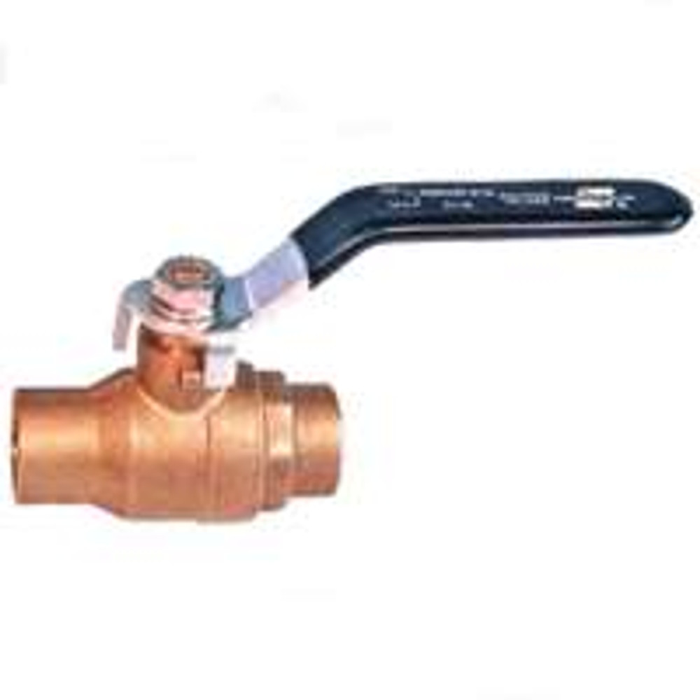 "Ball Valve, 1/2"", CXC, Full Port, Brass"
