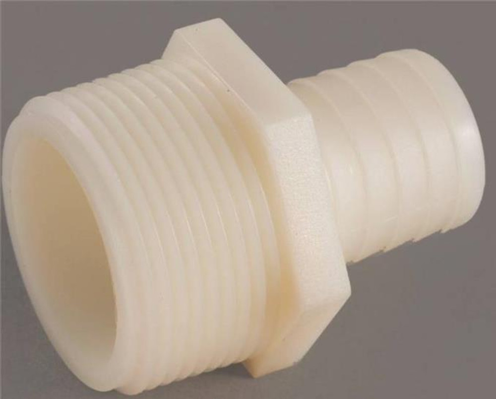 "Barbed Tube Fittings, 1/2"", Adapter x 3/4"" MPT, Nylon"