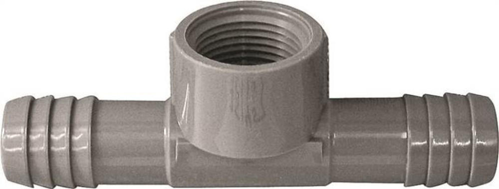 "Barbed Tube Fittings, 1/2"", FIP Tee, Polypropylene"